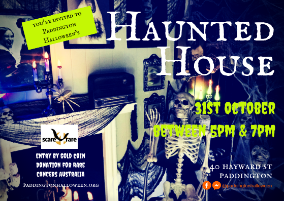 Haunted House postcard invitation